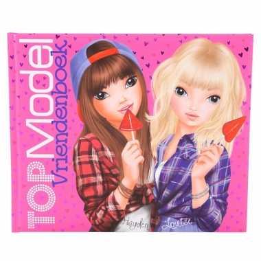 Vriendschapsboek topmodel roze 21 cm 10096263