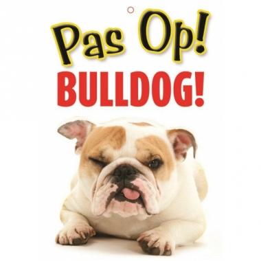 Waakbord bulldog hond