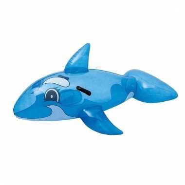 Walvis voor in het zwembad opblaasbaar118x72cm