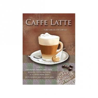 Wand bordje caffe latte 15 x 20 cm