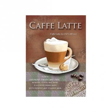 Wand bordje caffe latte 30 x 40 cm