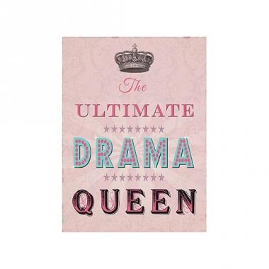 Wand bordje drama queen 30 x 40 cm