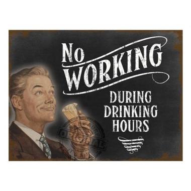 Wand bordje drinking hours 30 x 40 cm