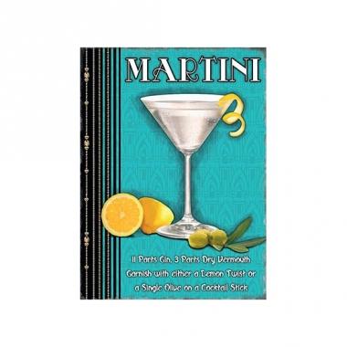 Wand bordje martini 30 x 40 cm
