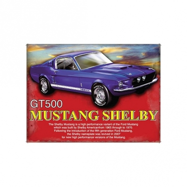 Wand bordje shelby mustang 30 x 40 cm