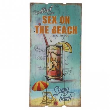 Wanddecoratie bordje sex on the beach cocktail