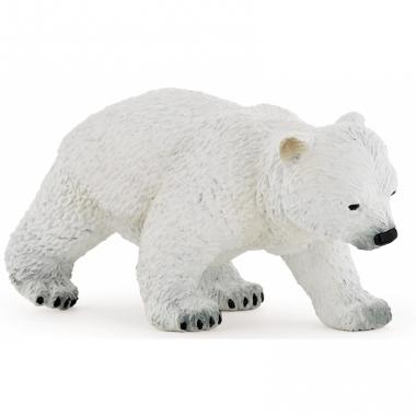 Wandelende ijsbeer baby plastic 8 cm