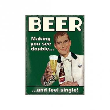 Wandplaat beer see double