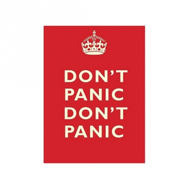 Wandplaat don't panic