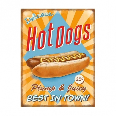 Wandplaat hot dogs