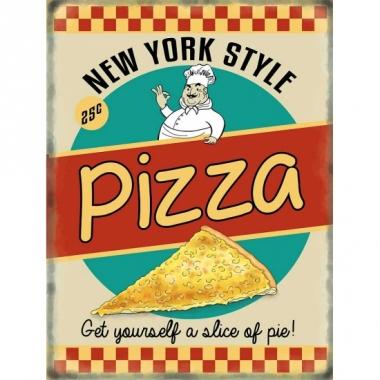 Wandplaat pizza ny style
