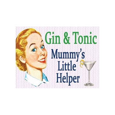 Wandplaatje gin and tonic