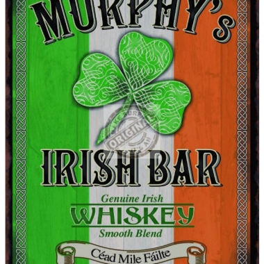 Wandplaatje irish pub bar