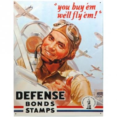 Wandplaatje luchtmacht stamps