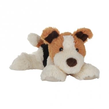 Warm knuffel hond babyshower kado 18 cm