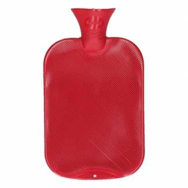 Warm water kruik rood 2 l