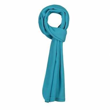 Warme fleece sjaals turquoise