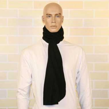 Warme fleece sjaals zwart