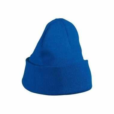 Warme mutsen kobaltblauw voor kinderen