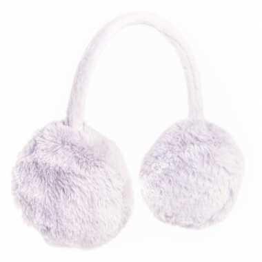 Warme oorwarmers grijs van nepbont voor meisjes