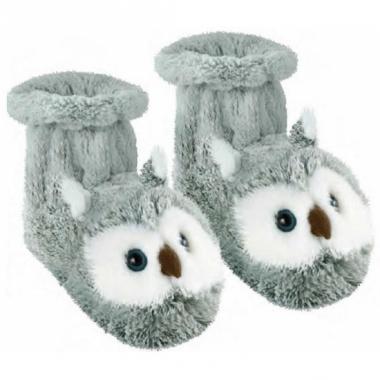 Warme sokken grijze uil