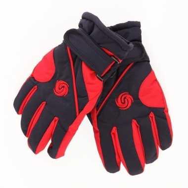 Warme winter handschoenen voor kinderen rood/donkerblauw