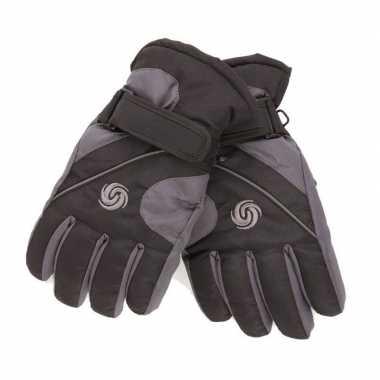 Warme winter handschoenen voor kinderen zwart/donkergrijs