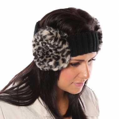 Warme winter hoofdband namaakbont oorwarmers