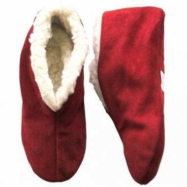 267c0c7da29 Warme wollen rode spaanse sloffen/pantoffels voor dames/heren/volwass