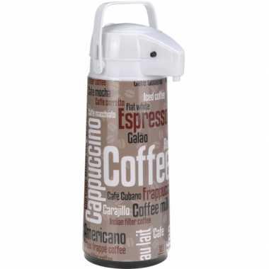 Warmhoudkan bruin/wit koffie 1900 ml
