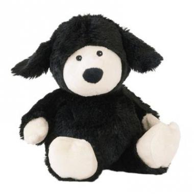 Warmte knuffel schaap zwart