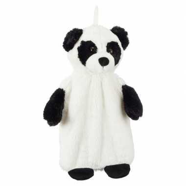 Warmwater kruik met pluche hoes panda