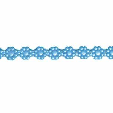 Was lintje met bloemetjes blauw 24 x 1 cm