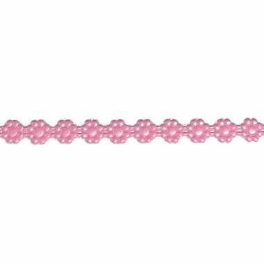 Was lintje met bloemetjes roze 24 x 1 cm