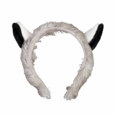 Wasbeer hoofdbanden pluche met oortjes 15 cm