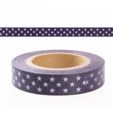 Washi knutsel tape blauw met sterren
