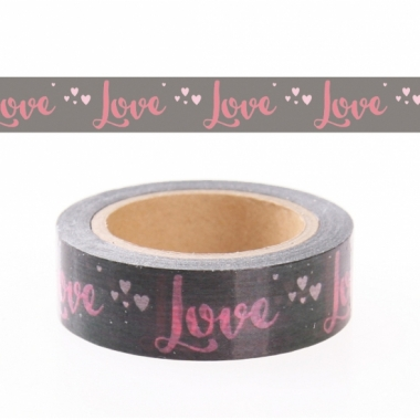 Washi knutsel tape met love