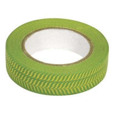Washi knutsel tape visgraat groen