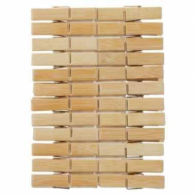 Wasknijpers hout 24 stuks