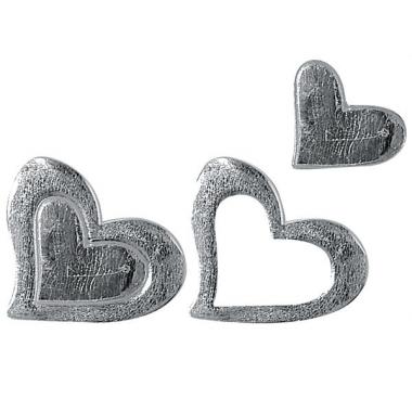 Wassen harten in zilverkleur