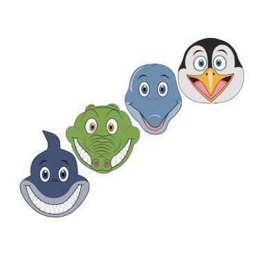 Water dieren maskers knutselen pakket