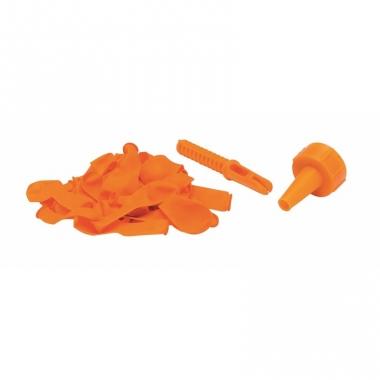 Waterballonnen 60 stuks met opzetstuk oranje