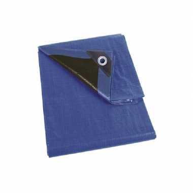 Waterdicht dekzeil extra sterk blauw/zwart 2 x 3 meter