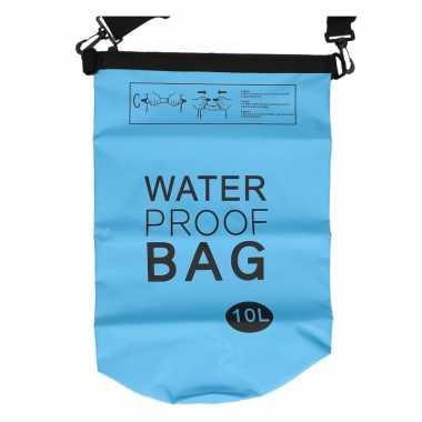 Waterdichte tas blauw 10 liter