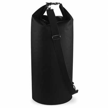 Waterdichte tas drytube 60 liter zwart 30 x 70 cm