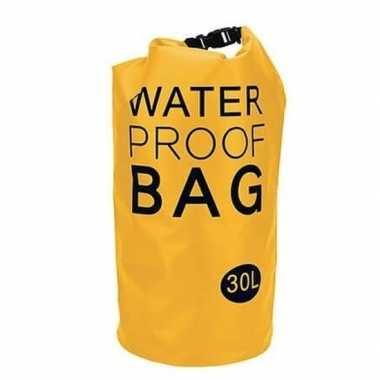 Waterdichte tas geel 30 liter
