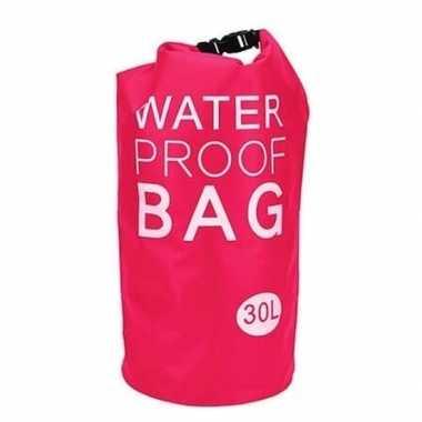 Waterdichte tas roze 30 liter