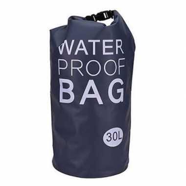 Waterdichte tas zwart 30 liter