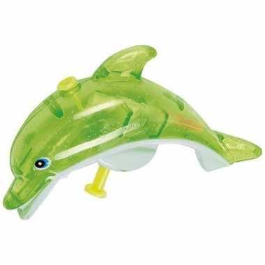 Watergevecht groene dolfijnen waterpistool 13 cm