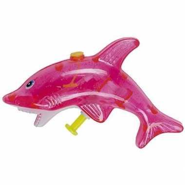 Watergevecht roze haaien waterpistool 13 cm